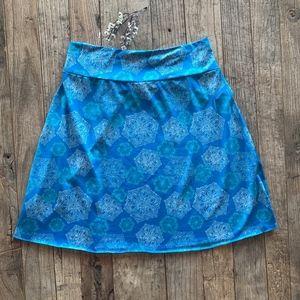 Dresses & Skirts - Tranquility Turquoise Blue Pull On Skirt Med Large